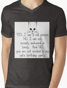YES, I AM A CAT PERSON... Mens V-Neck T-Shirt