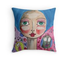 Sing A Happy Song Throw Pillow
