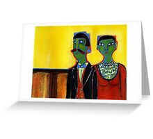distinguished guests Greeting Card