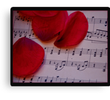 Love notes Canvas Print