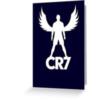 CR7 angel white Greeting Card