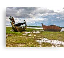 The Wrecks - Fleetwood Marsh Metal Print