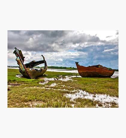 The Wrecks - Fleetwood Marsh Photographic Print