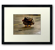 Empty Boots Framed Print