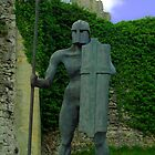 Sculpture at Helmsley Castle. by ANDREW BARKE