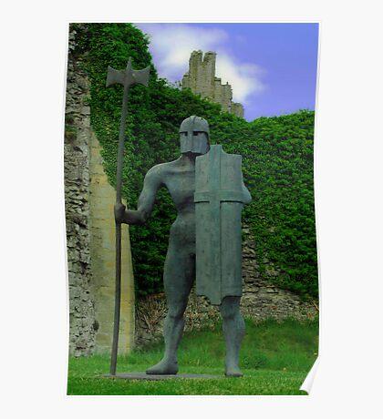Sculpture at Helmsley Castle. Poster