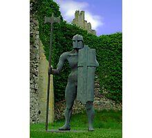 Sculpture at Helmsley Castle. Photographic Print