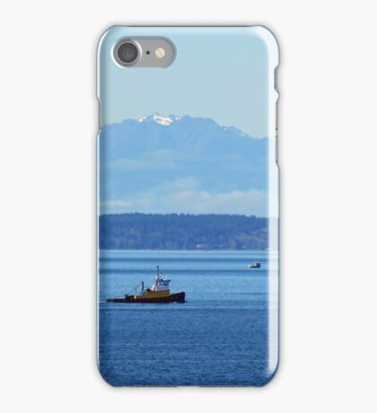 Working the Waters of Puget Sound iPhone Case/Skin
