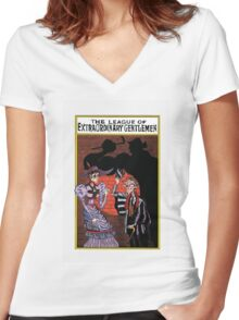 The league of Extraordinary Gentlemen  Women's Fitted V-Neck T-Shirt