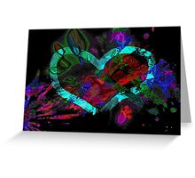 Exploding Heart Greeting Card