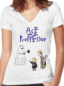 Ace and the Professor Women's Fitted V-Neck T-Shirt