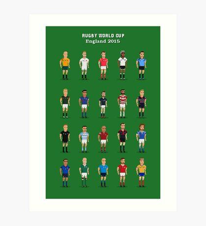 Rugby Art Print