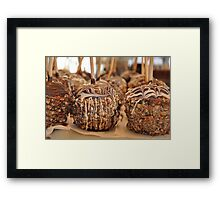 Nutty Chocolatey Gourmet Apples Framed Print