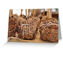 Nutty Chocolatey Gourmet Apples Greeting Card
