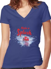 Make a Splash Women's Fitted V-Neck T-Shirt