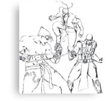 Epic Death Match Canvas Print
