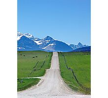 Ranchland Road Photographic Print
