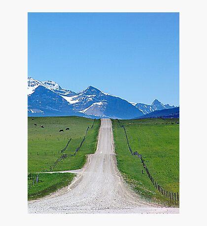 Ranchland Road Photographic Print
