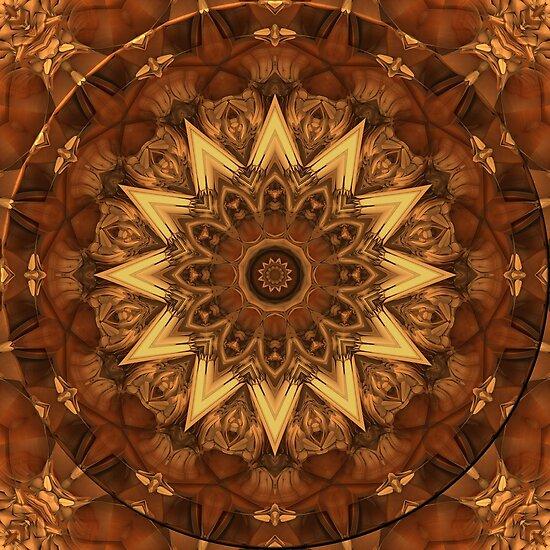 Kaleidoscope in Earth Tones by Lyle Hatch