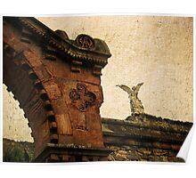 Comillas Cemetery & Exterminator Angel, Cantabria, Spain Poster