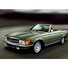 Mercedes 300SL Poster by Autographics