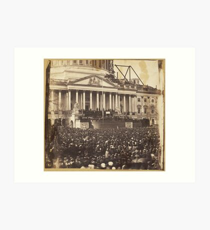 Inauguration of President Abraham Lincoln, March 4, 1861 Art Print