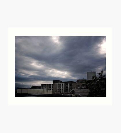 Stormy Bristol Sky Art Print