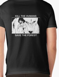Kill the humans, save the forest Mens V-Neck T-Shirt