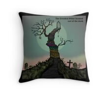 The Crooked Pillar Throw Pillow