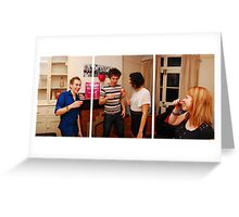 A Triptych View on Student Life - Pre-Drinks Greeting Card