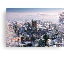 Great Malvern - Morning after freezing fog Canvas Print