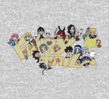 fairy tail erza natsu chibi anime manga shirt by ToDum2Lov3
