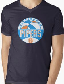 Pittsburgh Pipers Vintage Mens V-Neck T-Shirt