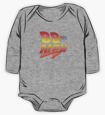 88MPH + Flames One Piece - Long Sleeve