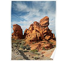 Rock Formation-Valley Of Fire, NV Poster