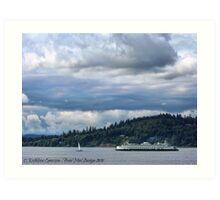 Puget Sound (Kingston Ferry) Art Print