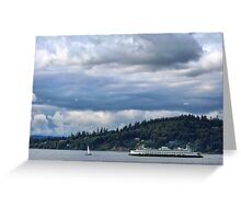 Puget Sound (Kingston Ferry) Greeting Card