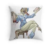 ZOMBIE PIN UP-COWGIRL Throw Pillow