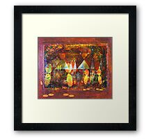 WHY CAN'T WE BE FRIENDS Framed Print