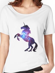Galaxy Unicorn Women's Relaxed Fit T-Shirt