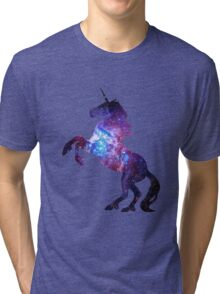 Galaxy Unicorn Tri-blend T-Shirt
