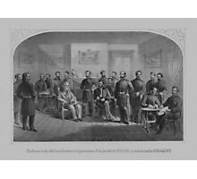 Lee Surrendering At Appomattox -- Civil War Photographic Print