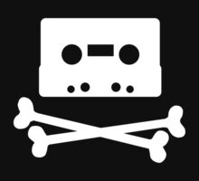 Pirates of the Cassette Player - WHITE by bluedog725