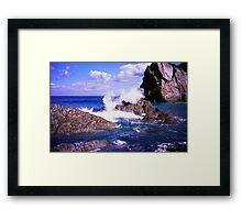 Devon rocky coast Framed Print