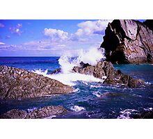 Devon rocky coast Photographic Print