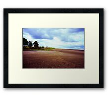 Ploughed field in Hertfordshire. Framed Print