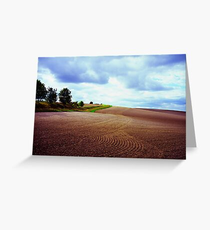 Ploughed field in Hertfordshire. Greeting Card