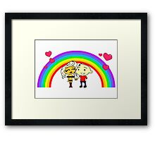 The IT Crowd – Friendface – Love and Companionship and Everything's Fine! Framed Print