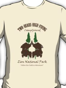 Two-Bears High Fiving Campground T-Shirt