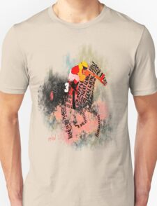 Colorful Racehorse in Typography Unisex T-Shirt